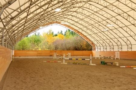 installing equestrian arena lighting